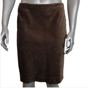 St John's Bay Chocolate Brown Corduroy ALine Skirt